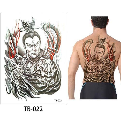 Zhuhuimin Big 3pcs zurück Tattoo Aufkleber Mode Tattoo Große wasserdichte Tattoo Body Art Promis Promis der Männer heißer