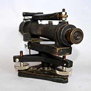 Theshopy Vintage Brass Fennel Kassel Surveying Transit Instrument in Case with Original Wooden Box #A693