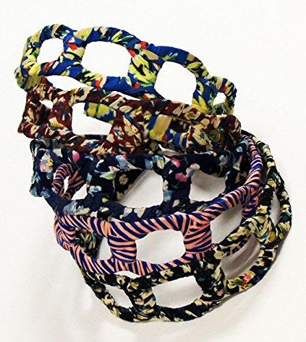 HBA13 élégantes Designs Bow Bandeaux Hairwear assorties - Lot de 2 HBF08