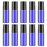 10flacons en verre vides pour huile essentielle de parfum- 5ml