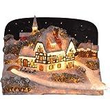 insatech Winterdorf Fiberoptik - beleuchtetes Weihnachtshaus