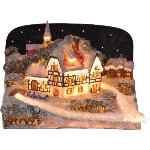 insatech Winterdorf Fiberoptik beleuchtetes Weihnachtshaus beleuchtet mit Farbwechsel