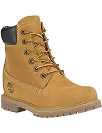 Zapatos Timberland botas mujer al trigo, 8226 noticias de arranque con alta Interior, gamuza - 35,5