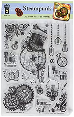 Hot Off The Press Steampunk Tampons acrylique 15x