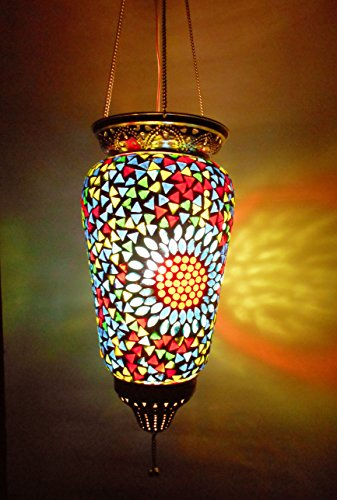 Susajjit Designer Lantern Of Glass Decorative Mosaic Lamps For Beautify Your Homes