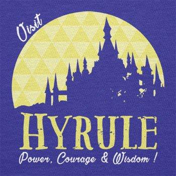 TEXLAB - Visit Hyrule - Damen T-Shirt Marine