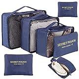 Newdora 7 en 1 Set de Organizador de Equipaje Viaje con Bolsa de...