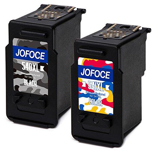 Jofoce Remanufactured Canon PG-540XL CL-541XL 1 Schwarz + 1 Farbe Druckerpatronen Kompatibel mit Canon PIXMA MG2100 MG2150 MG2200 MG2250 MG3100 MG3150 MG3200 MG3250 MG3255 MG3500 MG3550 MG3600 MG3650