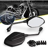 sourcingmap/® 2Stk 10mm Gewinde Dmr runde geformte Motorrad Chopper R/ückspiegel Seitenspiegel DE de