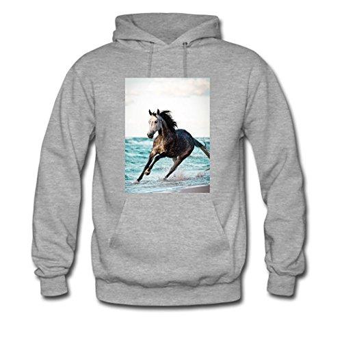HKdiy Horses run Custom Classic Men Hoodie Gray-1