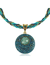 Signore-Signori® Retro Droplet Statement Necklace Handmade Costume Fashion Jewellery Christmas Gift