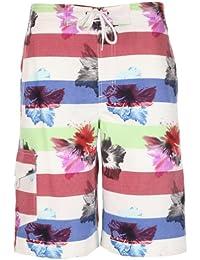 Tokyo Laundry Men's Taino Casual Floral Striped Board Swim Shorts