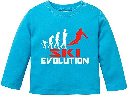 EZYshirt® Ski Evolution Baby T-Shirt Longsleeve