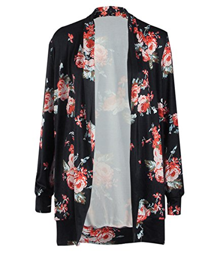 Clasichic Womens Boho Irregular Long Sleeve Wrap Kimono Cardigans Coat Tops Outwear Test