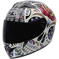 NZI 050264G582 Vital Mexican Skulls - Casco de Moto, multicolor, Talla 56 (S