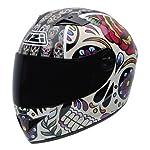 NZI 050264G582 Vital Mexican Skulls Casco de Moto, Multicolor, Talla 58-59 (L)