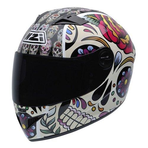 NZI 050264G582 Vital Mexican Skulls - Casco de Moto, multicolor,...