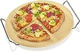 Küchenprofi Pizzastein mit Untersatz ø 30 cm Pizza wie beim Italiener Schamottestein