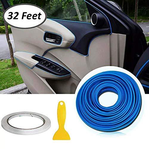 Auto Zierleiste Chrom Zierleisten Trim - Automan flexiblem Innenraum Dekorative Streifen Line DIY (10M Blau)
