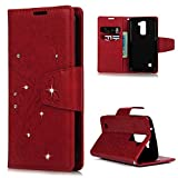 LG K7 Case, LG K7 Wallet Case 3D Bling Shiny Diamonds Glitter Sparkling