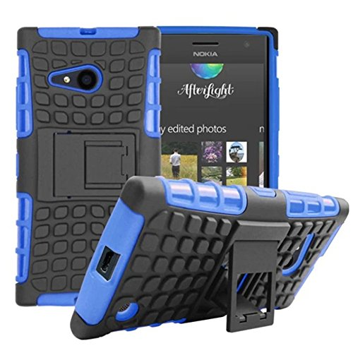 Microsoft Nokia Lumia 730 /735 Case, DRUnKQUEEn Heavy Duty Rugged Hybrid Armor Dual Layer Hard Shell Tread Grenade Grip Cover with Kickstand for Nokia Lumia 730 / Nokia Lumia 735 (Verizon/Sprint)