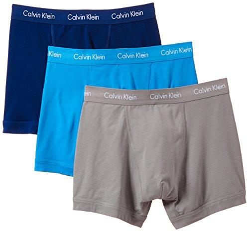 Calvin Klein Herren 3P Trunk Boxershorts, Mehrfarbig (Dolphin-Dreamy-Knight Ride DRK), M (erPack 3) - Classic Jersey Shorts