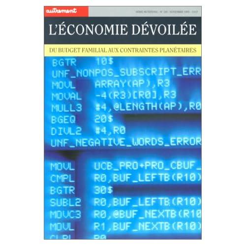 L'Economie dévoilée, du budget familial aux contraintes planétaires