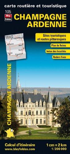 Champagne Ardenne, carte régionale, routière et touristique