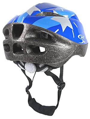 Sport Direct Boy's Silver Stars Bicycle Helmet - Blue, Size 48-52 from Sport Direct