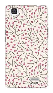 ACKME DESIGN Floral design Oppo R7 Designer back cover cases AAZOPR7F005