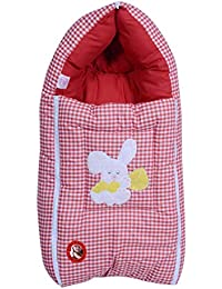 GURU KRIPA BABY PRODUCTS Presents New Born Baby Premium Soft Cotton Fabric Baby Hooded Blanket Cum Wrapping Sleeping Bag Comforter Wrapper Odna Carrier with Cap Baby Packer