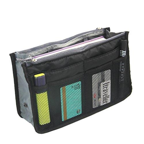 ColorMixs®Inserire borsa cosmetici Organizzatore, grande nave del sacchetto compone il sacchetto con 13 Vano per le signore