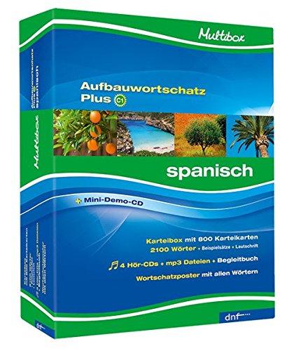Multibox Aufbauwortschatz Plus C1. Spanisch: 802 Karteikarten, 4 CDs, Begleitheft, Poster