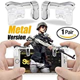 #9: K3 PUBG Mobile Game Controller, Gamers Yard 1 Pair Sensitive Game Triggers for PUBG/Knives Out/Rules of Survival L1R1 Game Joysticks Gamepad for Android iOS Phones Transparent (Metal)