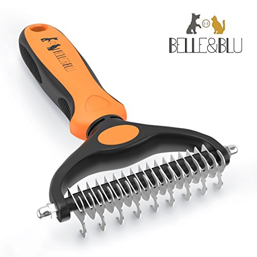 belleblu-pet-grooming-rake-undercoat-rake-dematting-comb-for-dogs-and-cats-de-shedding-tool-dog-brus