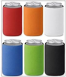 Faltbare Farbige Dosenkühler Bierkühler Flaschenmarkierer Für Unterwegs, Grillparty, Picknick, Ausflug, Für 0,33l Dosen Bierdosen, 6er Pack
