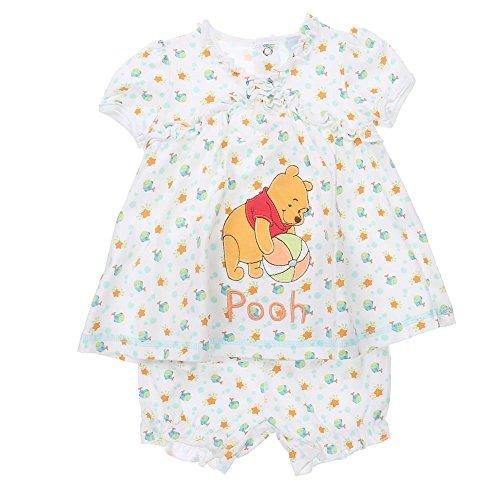 Baby-Mädchen Shorts/Top, Baby-Mädchen Winnie Pooh Shorts/Top Disney-Baby 2 Teiler, Weiß, in Größe 40/50