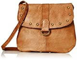 PIECES Pcnadeen Leather Cross Body, Bolsos bandolera Mujer, Braun (Cognac), 5x21x26 cm (B x H T)