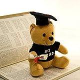xuritaotao 20Cm Teddy Bear Plush Toys Dottore Bear Dr. Bear Peluche Bambole Regali di Laurea Decorazione Laurea Regali per Bambini
