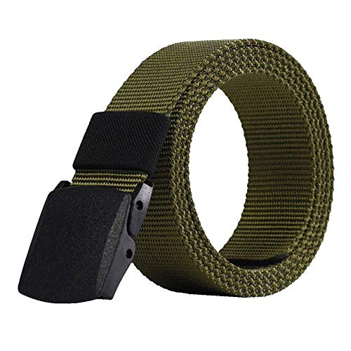aoliaoyudonggha Mens Automatic Buckle Nylon Male Army Tactical Military Waist Canvas Belts Cummerbunds Strap -