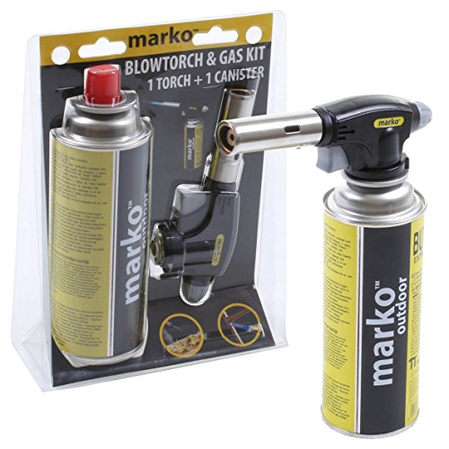 51CKVETaT0L - BEST BUY# Marko Butane Gas Powered Blowtorch Cooking Catering Creme Brulee Culinary Tarts Pies Tool Reviews