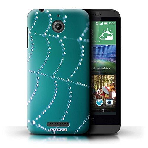 Kobalt® Imprimé Etui / Coque pour HTC Desire 510 / Pourpre conception / Série Toile d'araignée Perles Turquoise