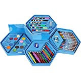 ToyToon Kids Art Set,Colors Box Color Pencil,Crayons, Water Color, Sketch Pens Set Of 46 Pieces For Boys And Kids Best Birthday Gift (Boys Colour Box)