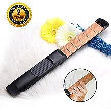 Guitarra de bolsillo, 6 cuerdas traseras, herramienta de práctica portátil con herramienta de afinación