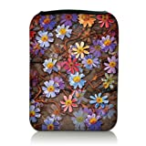Luxburg® Design Tasche Hülle Sleeve Etui für eBook Reader und Tablet PC bis 7 Zoll, Motiv: Blumenteppich
