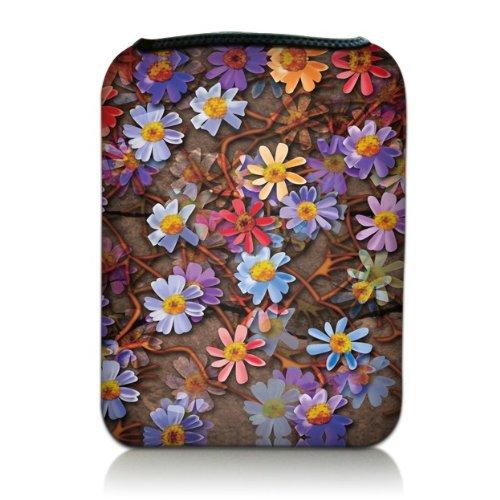 Luxburg Design custodia eBook Reader / Tablet in neoprene per dispositivi fino a 7 pollici, motivo Tappeto di fiori