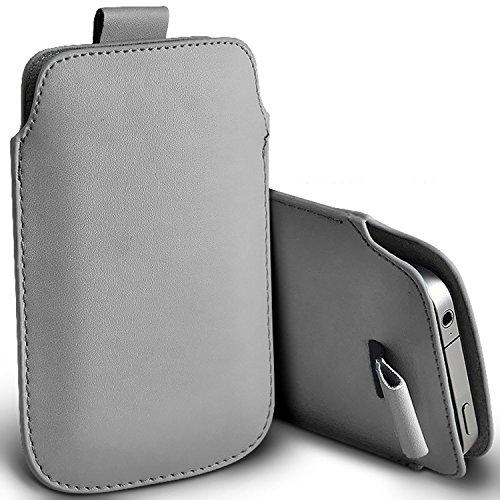 (Orange + Ohrtelefon) Apple iPhone 7 Plus-Hülle fall Tasche case Premium stilvolle Kunstleder Pull Tab-Beutel-Haut-Kasten-Abdeckung Verschiedene Farben zur Auswahl von mit Qualitäts-Einbau in Earbuds  Pull tab Apple iPhone 7 Plus (Grey)