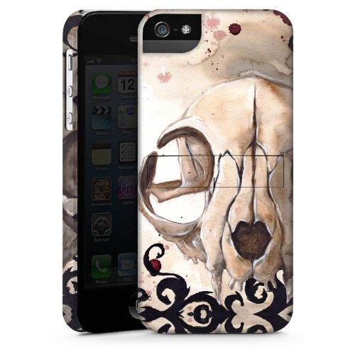 Apple iPhone 4 Housse Étui Silicone Coque Protection Crâne de chat Tête de mort Chat CasStandup blanc