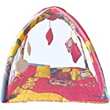 Samaaya Baby Kick And Play Gym With Mosquito Net And Baby Bedding Set (Yellow Red)