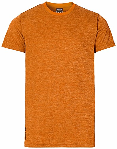 erima Herren T-shirt Green Concept Orange Pop  Melange